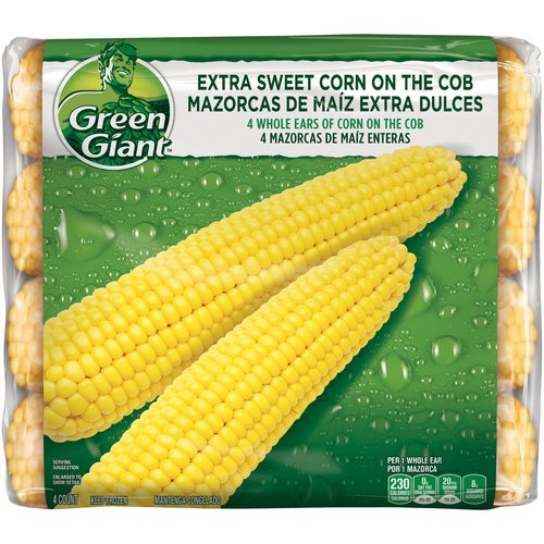 Green Giant Extra Sweet Corn on the Cob Whole Ears, 4 ct