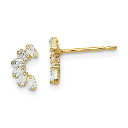 14K Yellow Gold Plated Madi K Cubic Zirconia Arch Post - Arch Post