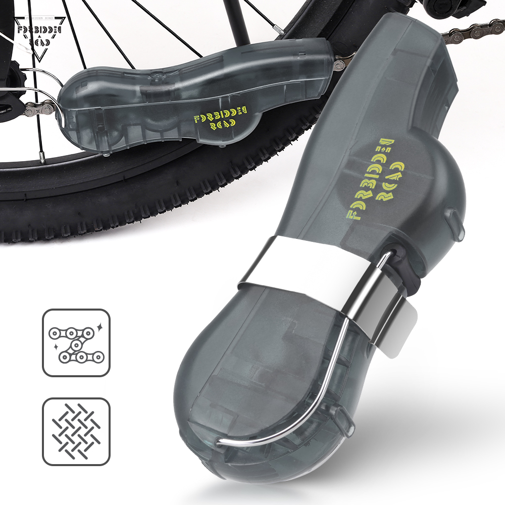 Forbidden Road Bike Chain Cleaner Bicycle Chain Cleaning Tool Mini Chain Washing Machine for Mountain Bike Road Bicycle Portable Small Cycle Chain Cleaner (Blue)