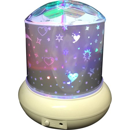 Rotating light with Star Moon, Heart LED Projector Light great for Kids night; Product Size: 6
