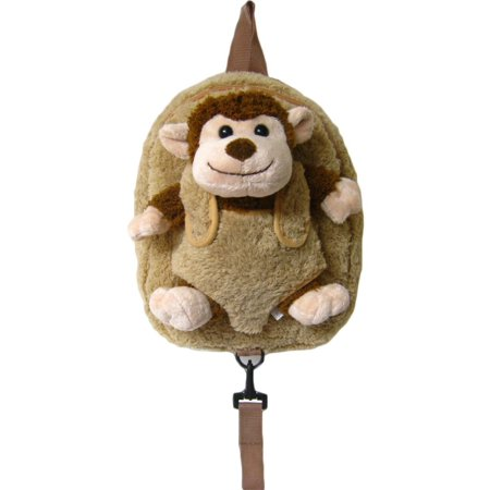 Unisex Brown Monkey Safety Harness Leash Backpack (Mickey Backpack Harness)