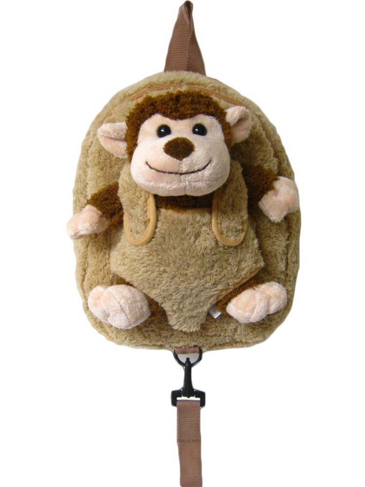 Unisex Brown Monkey Safety Harness Leash Backpack