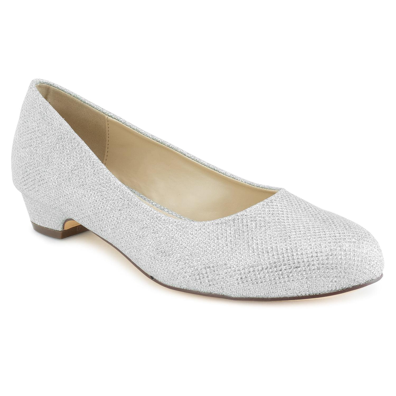 Beacon Womens Adult Jan Dress Flat Synthetic Dresses Flats 10 Medium US Women//Silver