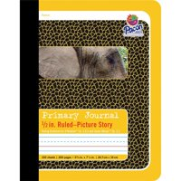 """Primary Composition Book, 1/2"""" Ruled with Picture Story Space, Yellow/Elephant, 9.75"""" x 7.5"""", 200 Pages, Pack of 12"""