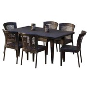 7-Pc Eco- Friendly Outdoor Dining Set