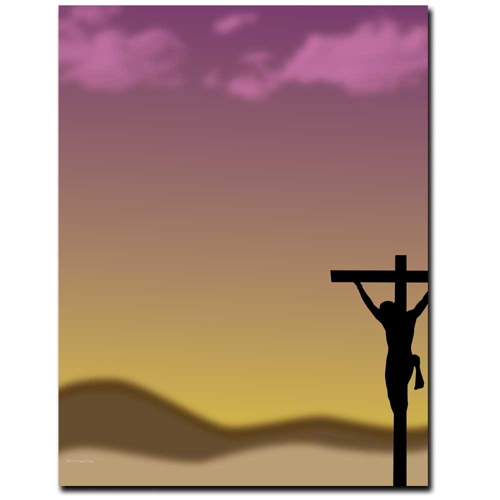 Crucifix Easter Letterhead Laser & Inkjet Printer Paper
