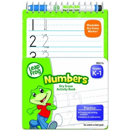 LeapFrog Numbers Dry Erase Activity Book for Grades K-1 with Washable Dry Erase Marker (Funtastic Frogs Numbers)