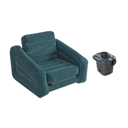 Intex AC Electric Air Pump & Inflatable Pull-Out Chair and Twin Bed Air Mattress](Air Chairs)