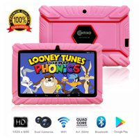 """Contixo K2 7"""" Educational 6.0 Android Tablet for Kids Learning Entertainment Apps Toys for Children Toddler Bluetooth WiFi Dual Camera Parental Control Kid-Proof Protective Case (Pink)"""