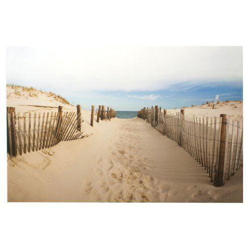 Walk To The Beach Canvas Wall Art - 32W x 24H in.