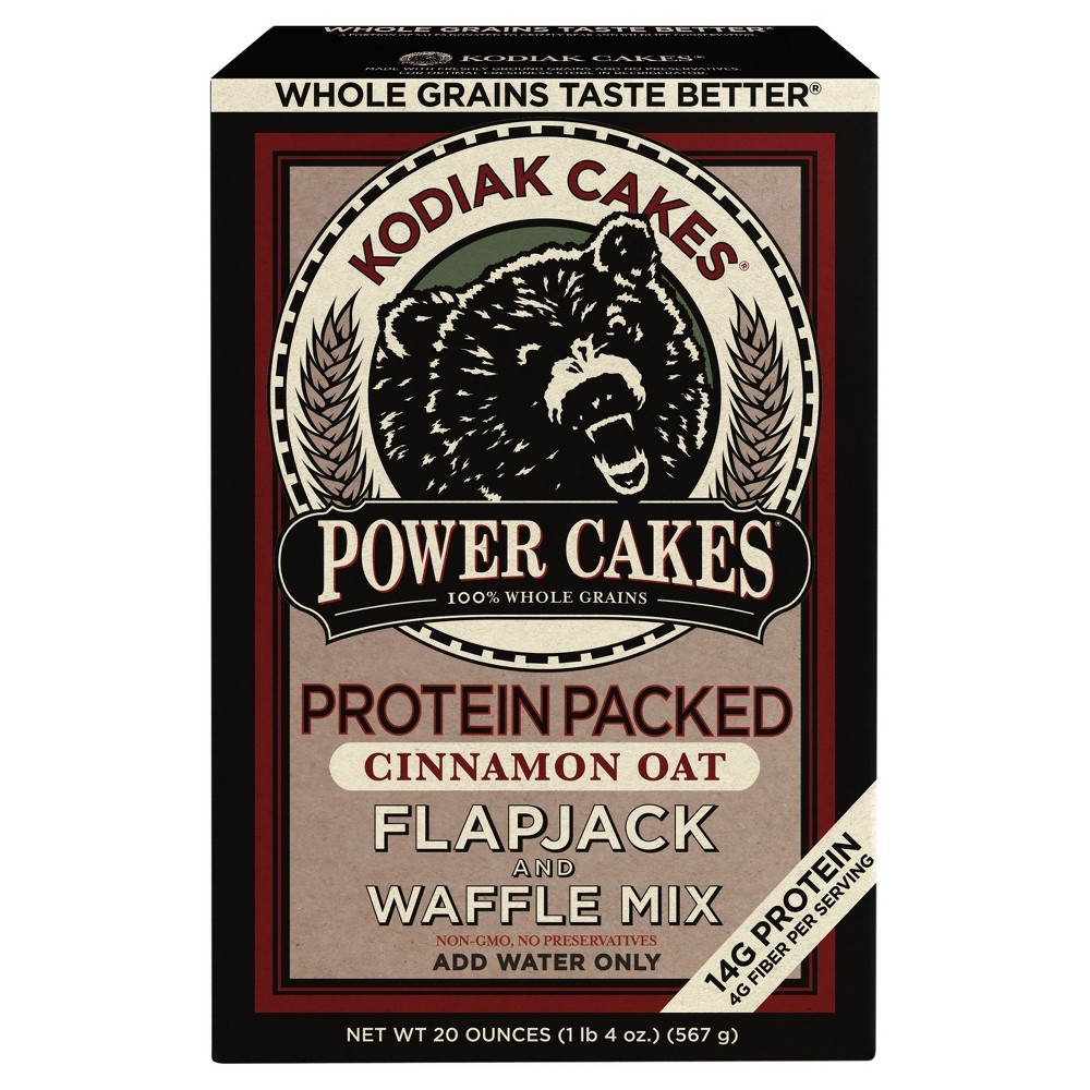 Power Cakes Cinnamon Oat Flapjack & Waffle Mix (Pack of 4)