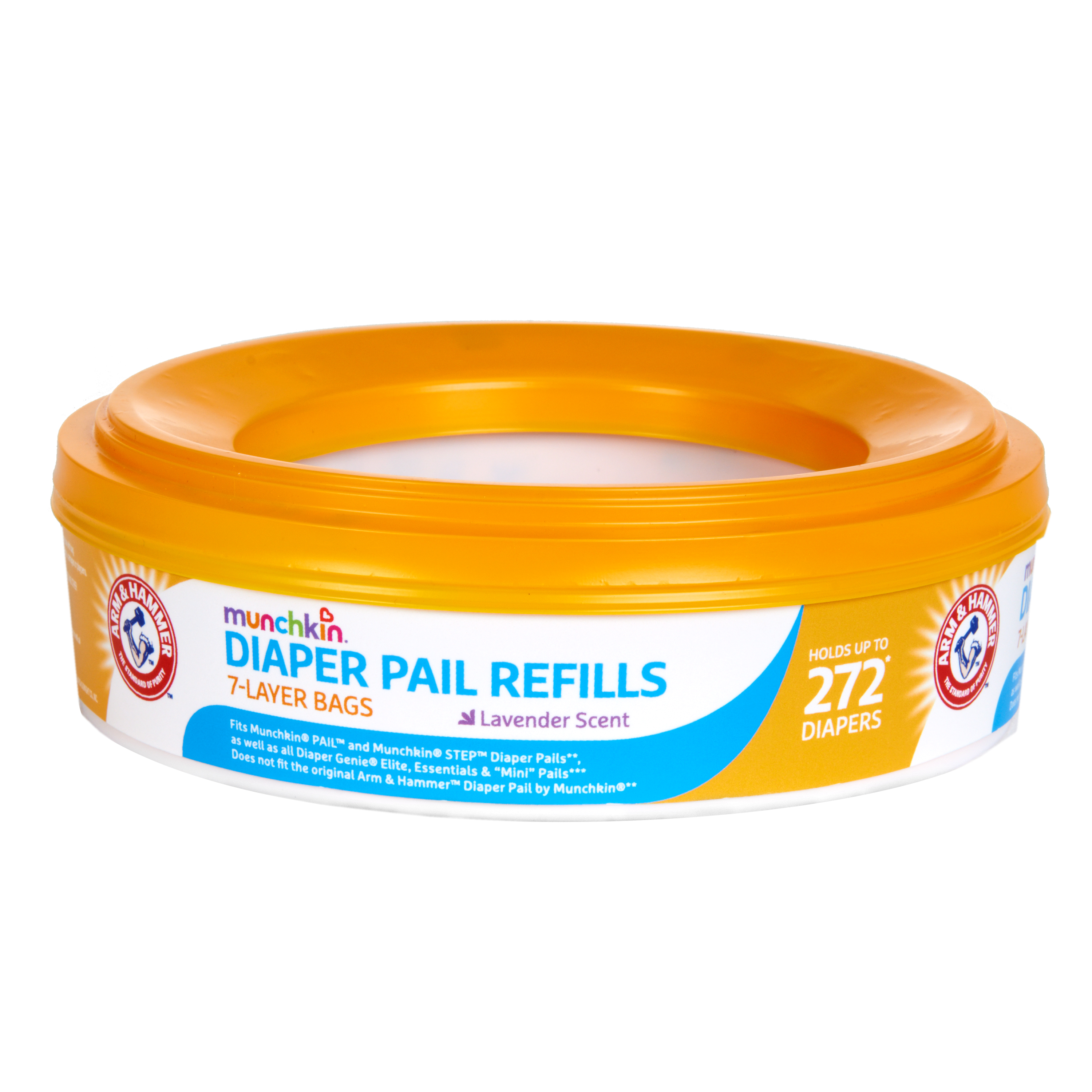 Munchkin Arm and Hammer Diaper Pail Refill Rings, 272 Count, 1 Pack
