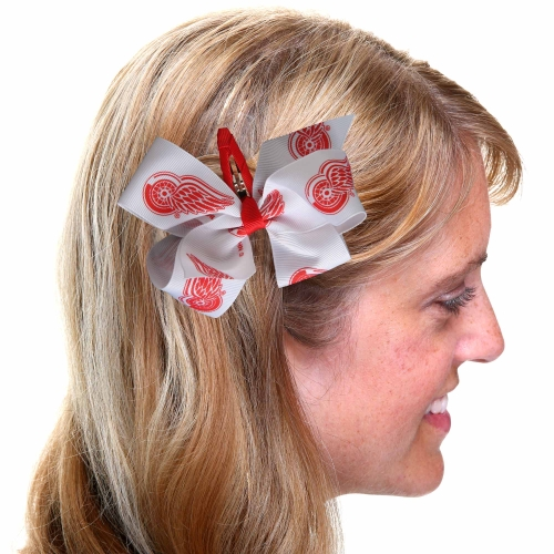 Detroit Red Wings Women's Team Logo Hair Bow - No Size