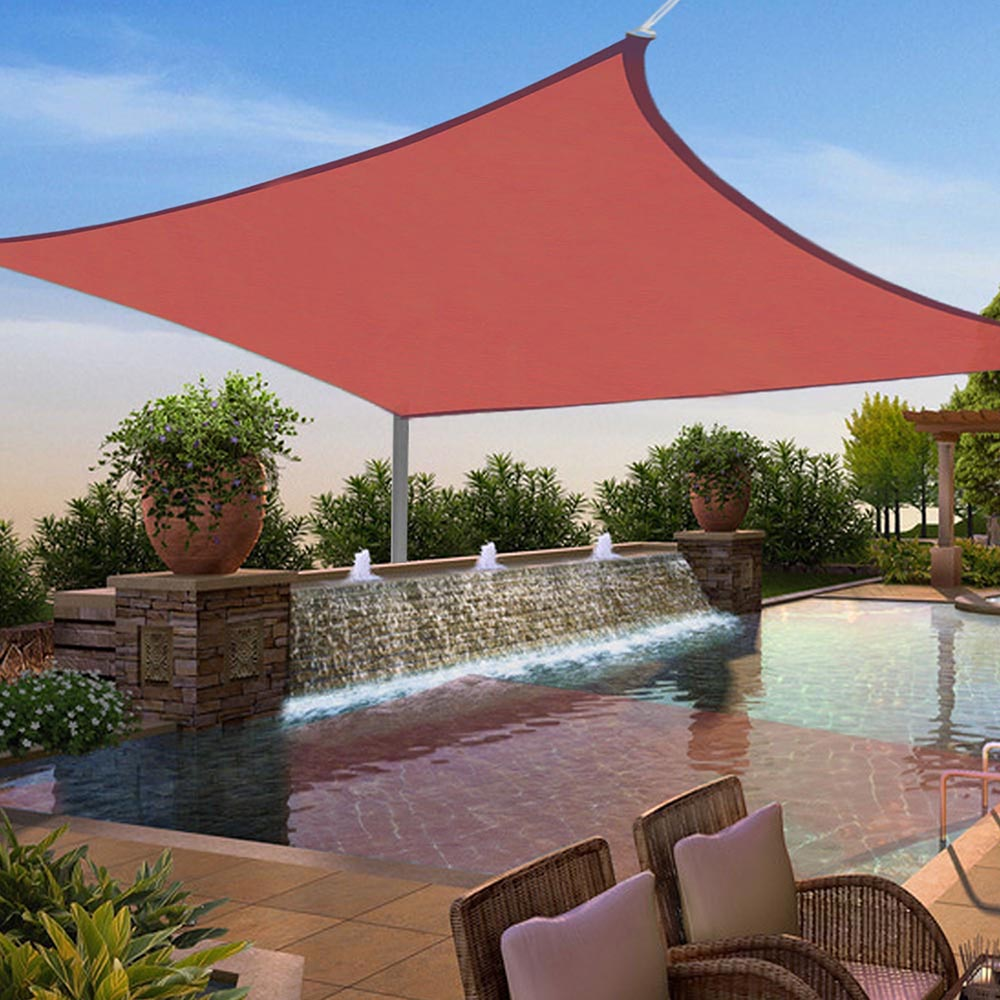 Yescom 12'x12' Square Sun Shade Sail UV Blocking Top Canopy Cover Red
