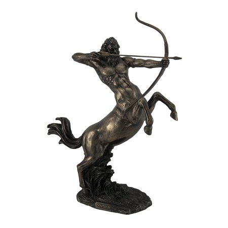 Rearing Centaur Shooting Arrow Bronze Finish Statue 14 Inch