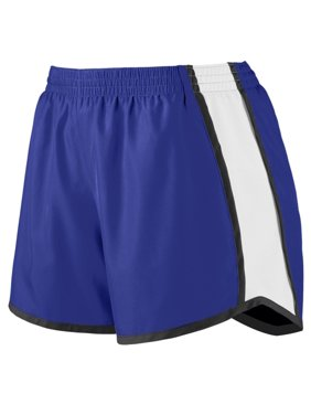 Augusta Sportswear S Girls Pulse Team Shorts Purple/White/Black 1266