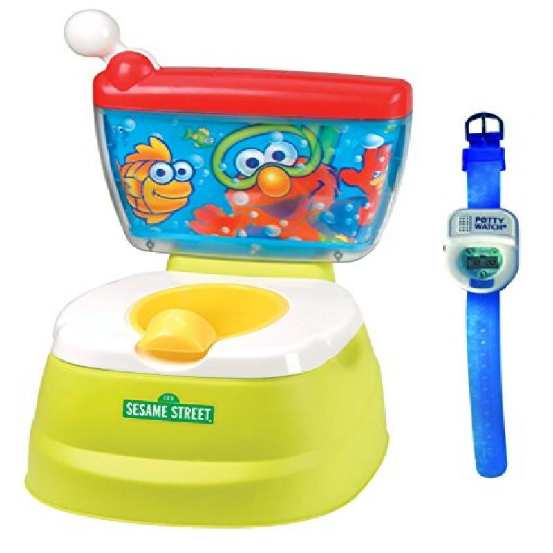 Sesame Street Elmo Adventure Potty Chair with Potty Watch Trainer, Blue