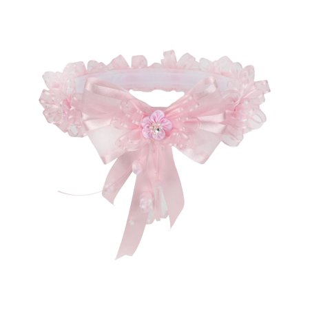 Pink Crowns (Girls Pink Doubled Side Organza Ribbon Flower Crown)