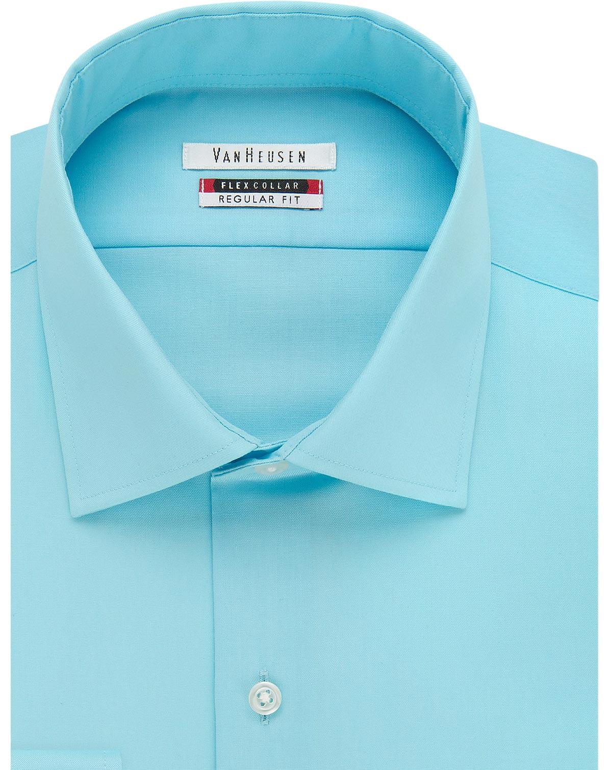Van Heusen Regular Fit Flex Collar Dress Shirt Lapis Blue 17 36/37 ...