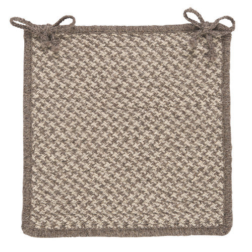 Colonial Mills Natural Wool Houndstooth Dining Chair Cushion