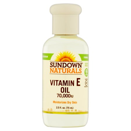 Sundown Naturals Huile de vitamine E, 70 000 UI, 2,5 fl oz