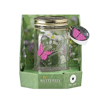 My Butterfly Collection - Animated Butterfly in a Jar - Pink Morpho (Christmas In A Jar)