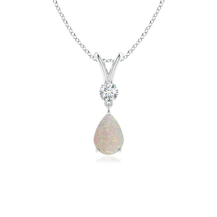 Angara Opal Drop Pendant in Yellow Gold - October Birthstone Pendant p9FQIP