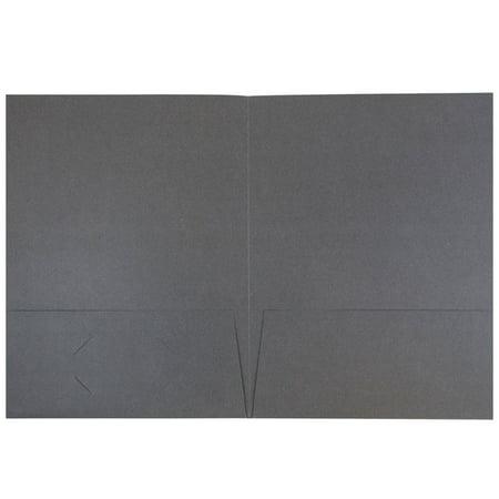 JAM Paper Premium Paper Cardstock Two Pocket Presentation Folders - Gray Linen - 6/pack - image 1 of 2