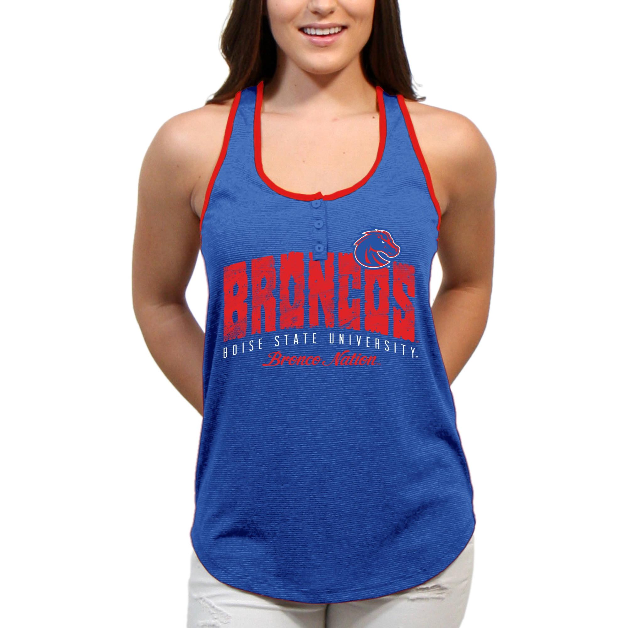 Boise State Broncos Choppy Arch Women'S/Juniors Team Tank Top