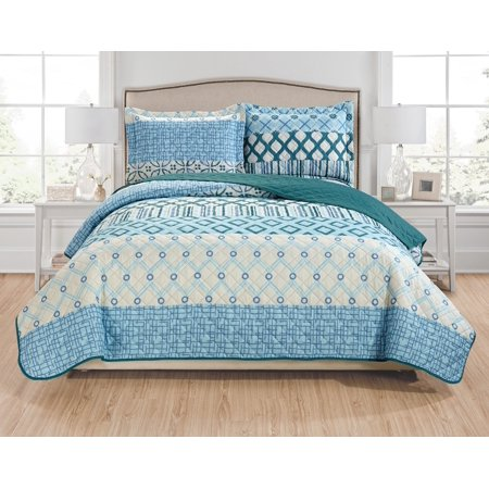 Leo 3-Piece Reversible Quilt Set - Queen ()