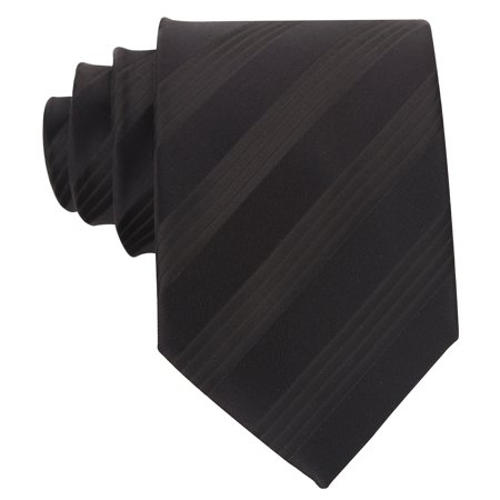 Scott Allan Mens Formal Striped Necktie - Black Mens - Necktie Black Striped Design