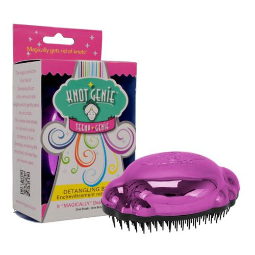 Knot Genie Teeny Shower Tangle Hair Brush Teezer Wet Hair Purple, PEACEFUL PURPLE, 7691