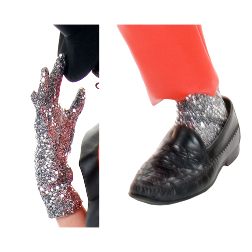 Michael Jackson Sequin Glove and Leggings Accessory One Sz