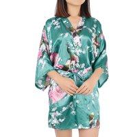 Women's Rayon Satin Robe Dressing Gown