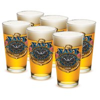 Pint Glasses � United States Navy Gifts for Men or Women � US Navy American Beer Glassware � The Sea Is Ours Glasses...