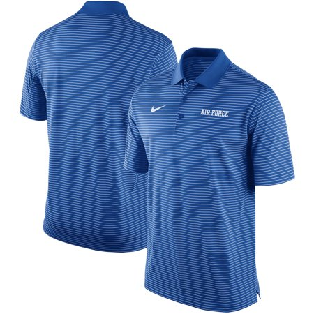 Air Force Falcons Nike Striped Team Performance Polo - Royal - S (Nike Air Force)