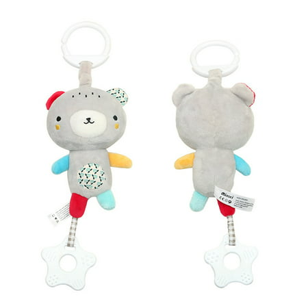 Infant Baby Soft Plush Toy Bed Crib Stroller Hanging Ring Bell Rattle Early Educational Music Box - Soft Ring Rattle