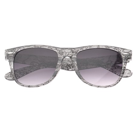MLC Eyewear 'Giana' Black Lace Wayfarer Fashion Sunglasses in Black (Polarisierte Wayfarer)