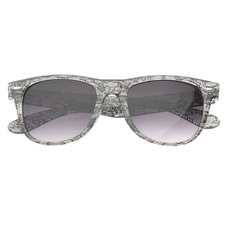 MLC Eyewear 'Giana' Black Lace Wayfarer Fashion Sunglasses in (Wayfarer Fashion)
