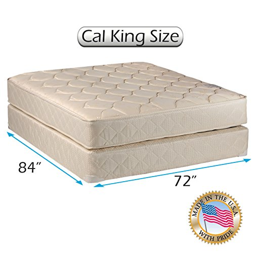 """Comfort Classic Gentle Firm Cal King (72""""x84""""x9"""") Mattress and Box Spring Set - Fully Assembled, Orthopedic, Good for your back, Superior Quality - Long Lasting and 2 Sided by Dream Solutions USA"""