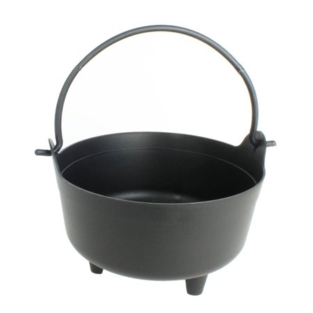 Halloween Cauldron Spells (Halloween Dutch Kettle Cauldron 14 Inch Black Plastic Party Accessory (1/Pkg))