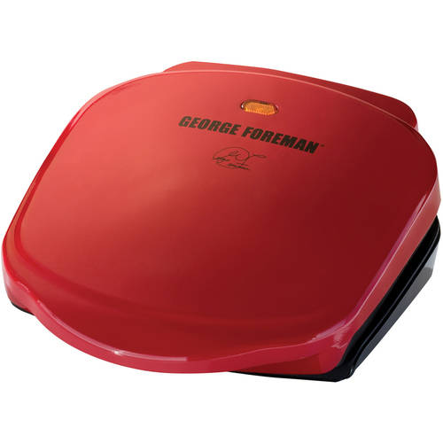 George Foreman 2-Serving Fixed Plate Grill, Red