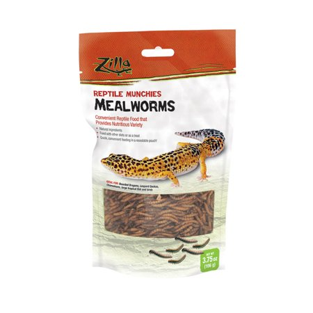 Zilla Reptile Mealworm Munchies, 3.75 oz