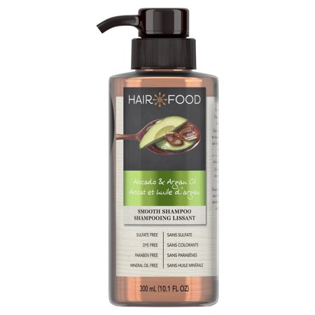 Hair Food Avocado & Argan Oil Sulfate Free Shampoo, 300 mL, Dye Free -