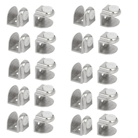4mm-8mm Thickness Half Round Shaped Glass Clamps Support 20pcs - image 2 of 2