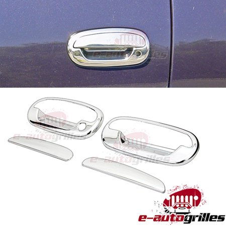 EAG 97-03 Ford F-150 2 Door Handle Covers Triple Chrome Plated ABS Without Passenger Keyhole Chrome Plated Flywheel Cover