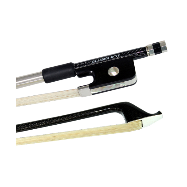Glasser Braided Carbon Fiber Round Stick Cello Bow 4 4 by Glasser