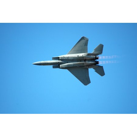 Canvas Print Military Jet Flying Fighter Jet Airplane Power Stretched Canvas 10 x 14 - Jets Flying