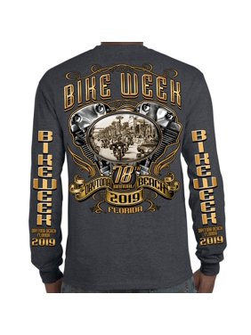 0981e617be Product Image Biker Life 2019 Bike Week Daytona Beach Main Street Engine  Long Sleeve T-Shirt