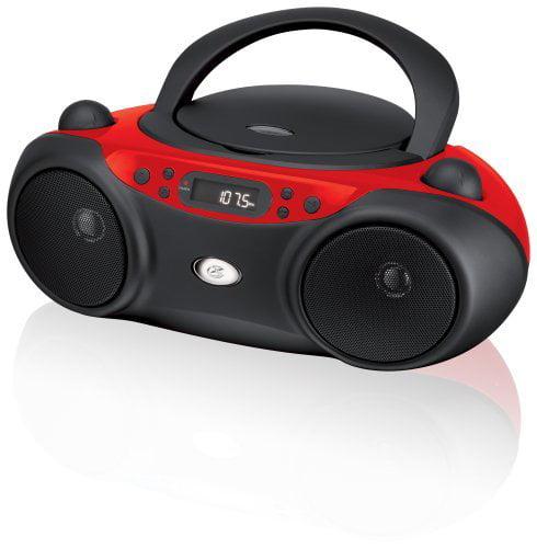 GPX BC232R Radio/CD Player Boombox - 1 x Disc - Red - CD-DA